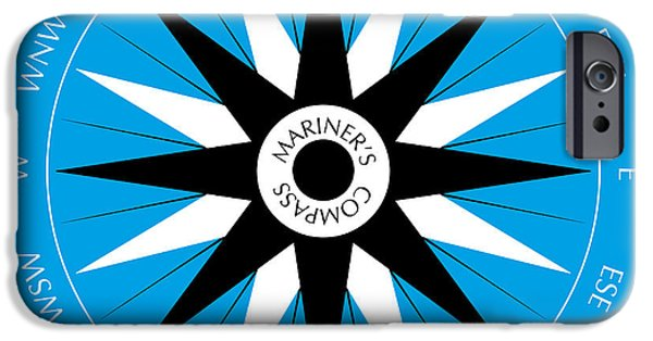 Technical iPhone Cases - Mariners Compass iPhone Case by Frank Tschakert
