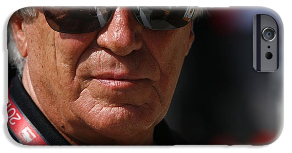 Best Sellers -  - Andretti Autosport iPhone Cases - Mario Andretti Racing Legend iPhone Case by Jeff  Young