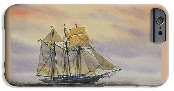 Sailing Ship Framed Prints iPhone Cases - Maritime Beauty iPhone Case by James Williamson