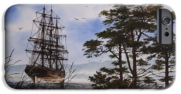 Tall Ship iPhone Cases - Maritime Shore iPhone Case by James Williamson