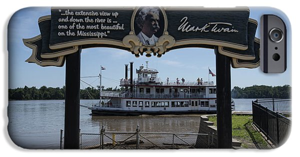 Becky Photographs iPhone Cases - Mark Twain on the Big Muddy iPhone Case by David Bearden