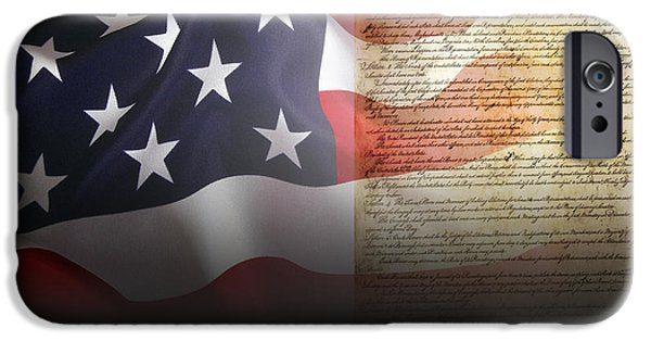 Constitution iPhone Cases - Mark Twains Patriot iPhone Case by Daniel Hagerman
