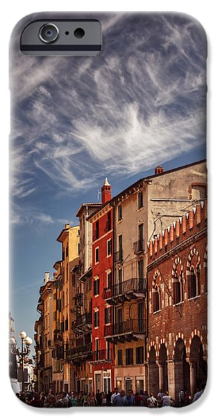 Rust iPhone Cases - Market Day in Verona iPhone Case by Carol Japp