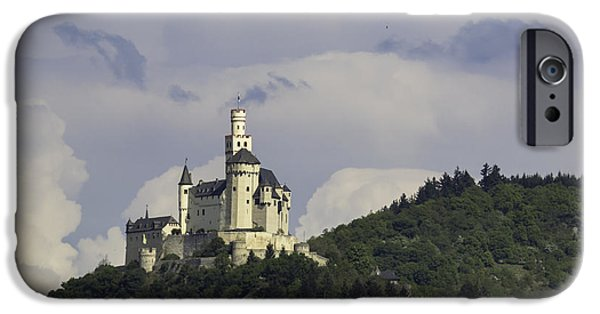 Historic Site iPhone Cases - Marksburg Castle 31 iPhone Case by Teresa Mucha