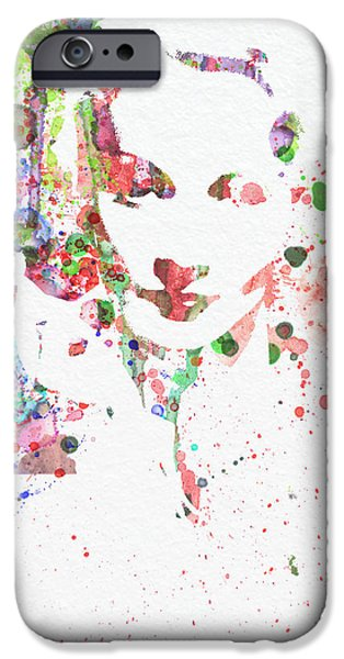 Marlene Dietrich 2 iPhone Case by Naxart Studio