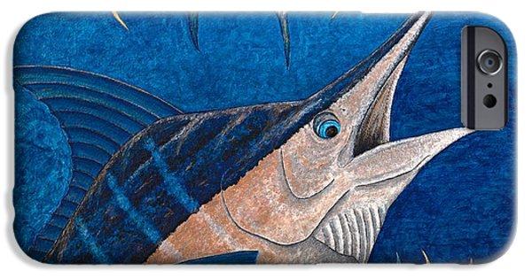 Marlin iPhone Cases - Marlin and Ahi iPhone Case by Carol Lynne