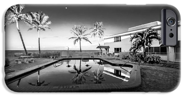 Gulf Front Pool iPhone Cases - Mars poolside iPhone Case by Gene Camarco