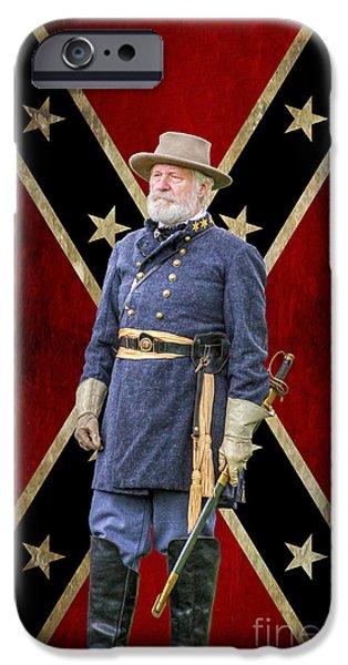 Battle Of Gettysburg Digital iPhone Cases - Marse Robert iPhone Case by Randy Steele