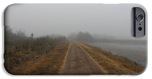 Mist iPhone Cases - Marsh Road iPhone Case by Clyde Dellinger