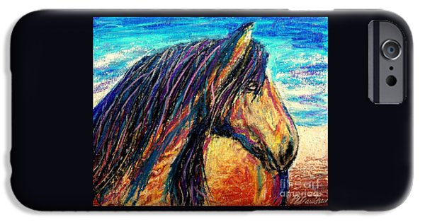 States Pastels iPhone Cases - Marsh Tacky Wild Horse iPhone Case by Patricia L Davidson
