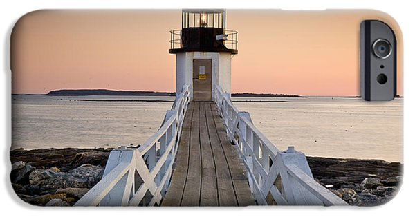 Mid-coast Maine iPhone Cases - Marshal Point Glow iPhone Case by Susan Cole Kelly