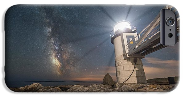 Maine iPhone Cases - Marshall Point Guiding Light  iPhone Case by Michael Ver Sprill