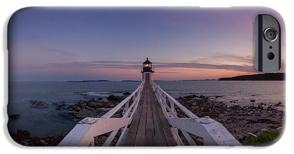 Sailboats iPhone Cases - Marshall Point Lighthouse Pano iPhone Case by Michael Ver Sprill