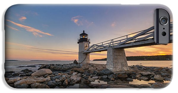 Maine iPhone Cases - Marshall Point Lighthouse Reflections iPhone Case by Michael Ver Sprill