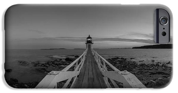 Michael iPhone Cases - Marshall Point Sunset Panorama BW iPhone Case by Michael Ver Sprill