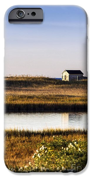 Cape Cod iPhone Cases - Marthas Vineyard Beach Shack iPhone Case by John Greim
