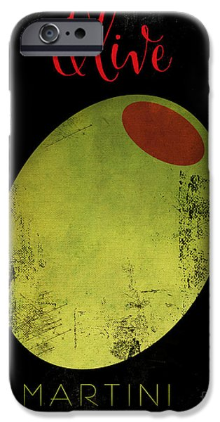 Stir iPhone Cases - Martini Olive iPhone Case by Mindy Sommers