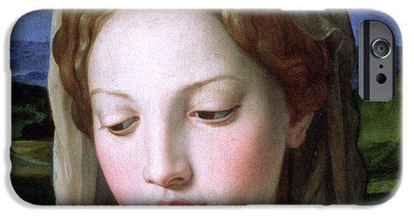 Religious iPhone Cases - Mary iPhone Case by Agnolo Bronzino