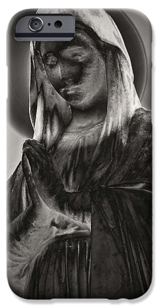 Religious iPhone Cases - Mary iPhone Case by Kathy Franklin
