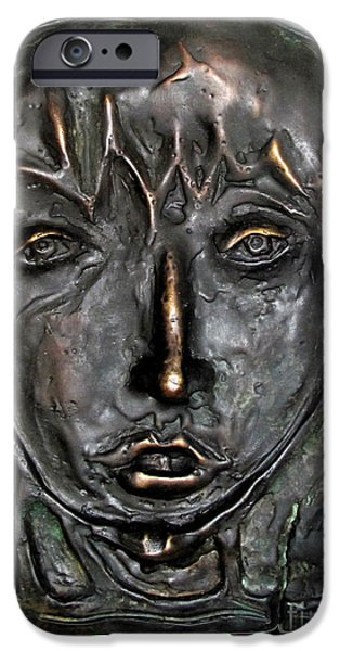 Prostitutes Paintings iPhone Cases - Mary Magdalen Edition of six bronzes iPhone Case by Charlie Spear