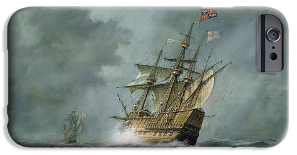 Boat Paintings iPhone Cases - Mary Rose  iPhone Case by Richard Willis