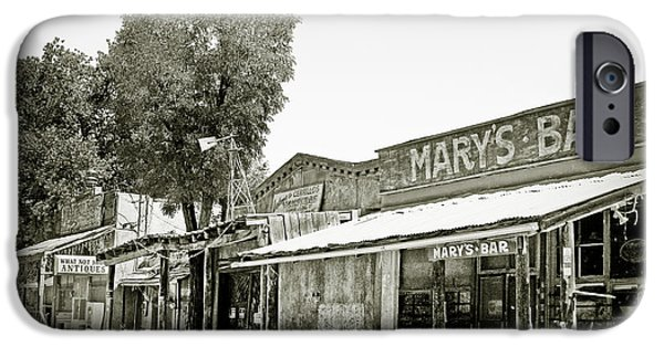 Scenic Drive iPhone Cases - Marys Bar Cerrillo NM iPhone Case by Christine Till