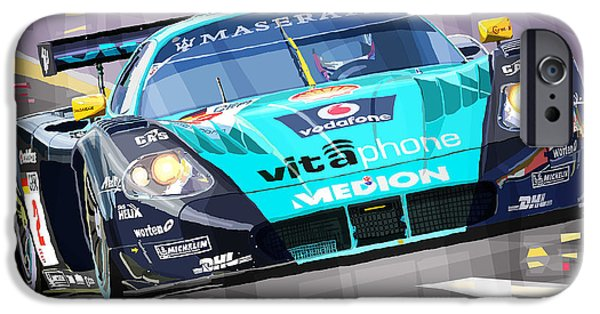 Racing Mixed Media iPhone Cases - Maserati MC12 GT1 variant iPhone Case by Yuriy Shevchuk