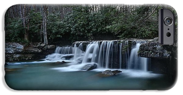 West Fork iPhone Cases - Mash Fork Falls iPhone Case by Jeff Burcher