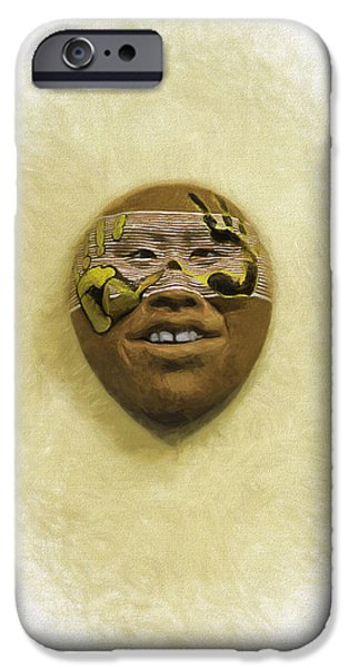 Smithsonian Digital iPhone Cases - Mask 5 iPhone Case by Don Lovett