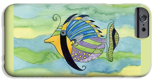 Imaginary Art iPhone Cases - Masked Fish iPhone Case by Amy Kirkpatrick