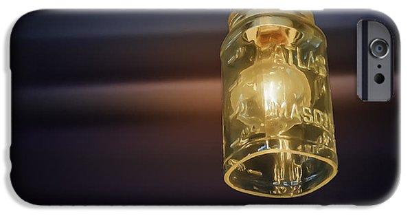 Interior Still Life Digital Art iPhone Cases - Mason Jar Light iPhone Case by Scott Norris