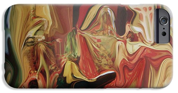 Abstract Forms iPhone Cases - Masquerade II iPhone Case by Florene Welebny