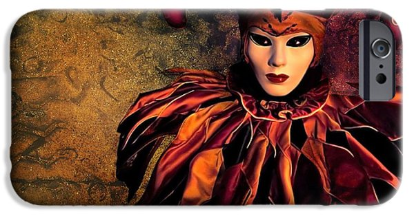 Jester Digital iPhone Cases - Masquerade iPhone Case by Photodream Art