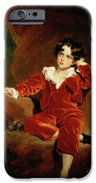 Daydream iPhone Cases - Master Charles William Lambton iPhone Case by Sir Thomas Lawrence