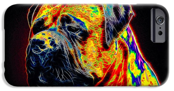 Abstractions iPhone Cases - Mastiff iPhone Case by Alexey Bazhan