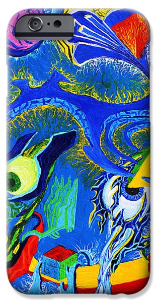 Mechanism Paintings iPhone Cases - Materialized Mind iPhone Case by Maxwell Hanson