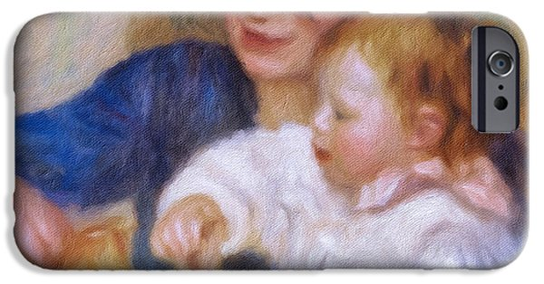 Bonding Mixed Media iPhone Cases - Maternal Love iPhone Case by Georgiana Romanovna