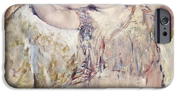 Women Together iPhone Cases - Mathilde Holding a Child iPhone Case by Mary Stevenson Cassatt