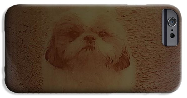 Dog Glass iPhone Cases - Matilda the Shitzu iPhone Case by Rosalind Duffy