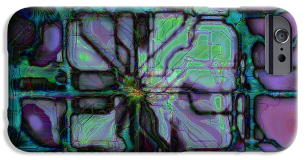 Circuit iPhone Cases - Matrices in Glass Houses iPhone Case by Kevyn Kross