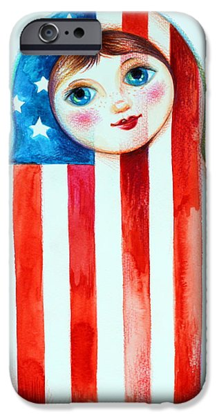 Independance Day iPhone Cases - Matrioshka iPhone Case by Oxana Zaika