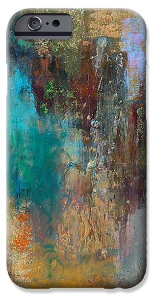 Abstract Expressionism iPhone Cases - Matter of the Heart iPhone Case by Martha Marshall