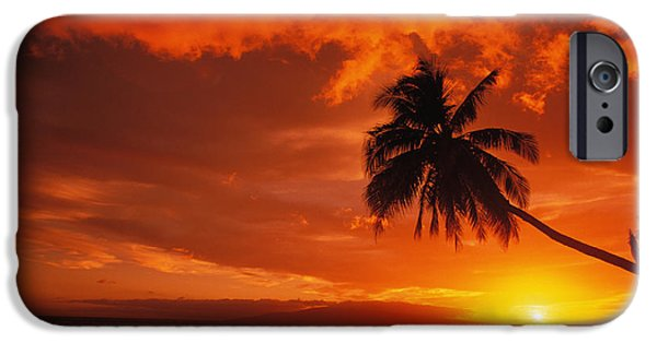 Overhang iPhone Cases - Maui, A Beautiful Sunset iPhone Case by Ron Dahlquist - Printscapes
