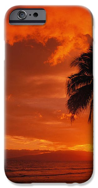 Maui, A Beautiful Sunset iPhone Case by Ron Dahlquist - Printscapes