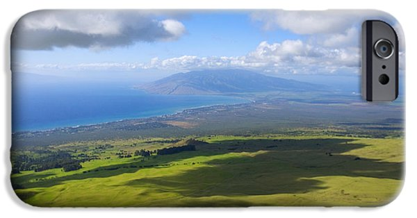 Pastureland iPhone Cases - Maui Aerial iPhone Case by Ron Dahlquist - Printscapes