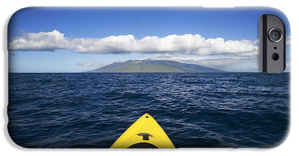 Adrenaline iPhone Cases - Maui, Kayaker iPhone Case by Ron Dahlquist - Printscapes