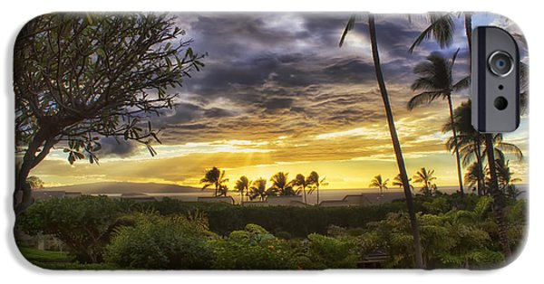 Ocean Sunset iPhone Cases - Maui Sunset iPhone Case by Christopher Purcell