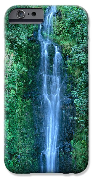 Down East iPhone Cases - Maui Waterfall iPhone Case by Bill Brennan - Printscapes