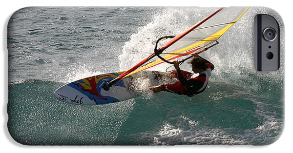 Sail Board iPhone Cases - Maui Windsurfer Hawaii iPhone Case by Pierre Leclerc Photography