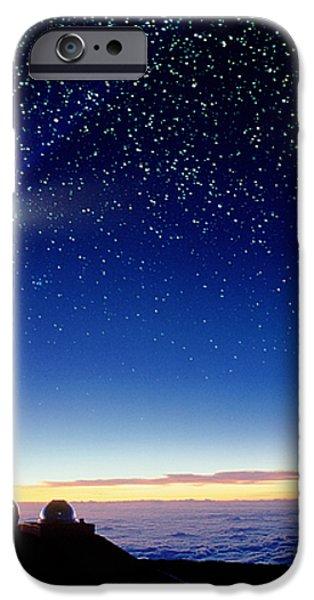 Mauna Kea Telescopes iPhone Case by D Nunuk and Photo Researchers